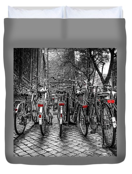 Bicycle Park Duvet Cover