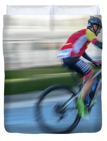Bicycle Race Duvet Cover