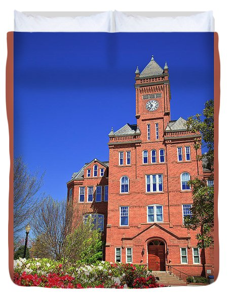 Biddle Hall In The Spring Duvet Cover