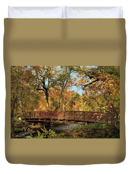 Duvet Cover featuring the photograph Bidwell Park Bridge In Chico by James Eddy