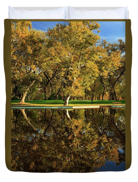 Bidwell Park Reflections Duvet Cover
