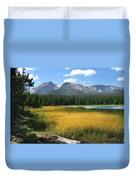 Duvet Cover featuring the photograph Autumn At Bierstadt Lake by David Chandler
