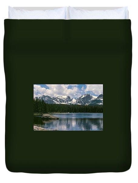 Bierstadt Lake Hallett And Otis Peaks Rocky  Mountain National Park Duvet Cover