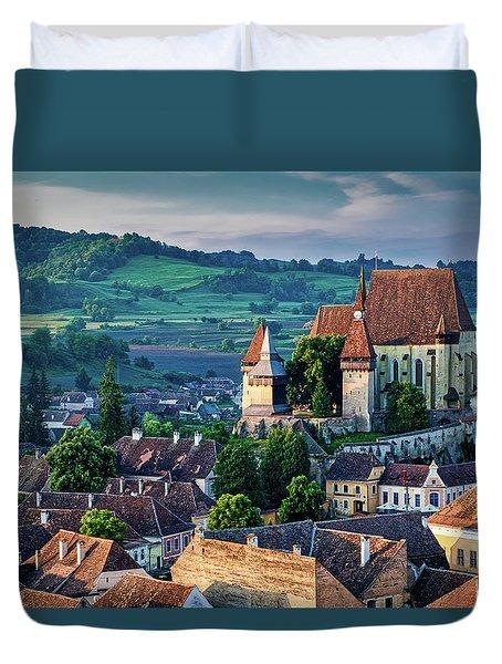 Biertan Church Dawn - Romania Duvet Cover