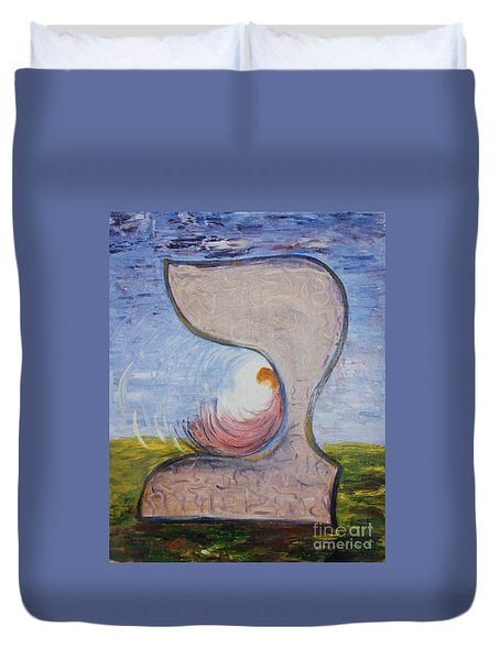 Biet - Meditation In Oil Duvet Cover