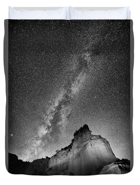 Duvet Cover featuring the photograph Big And Bright In Black And White by Stephen Stookey