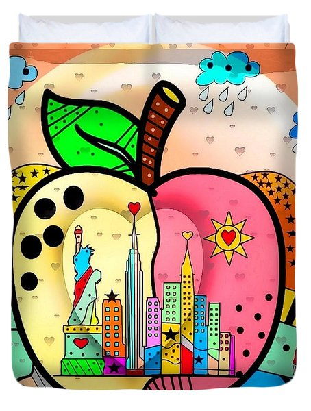 Big Apple By Nico Bielow Duvet Cover by Nico Bielow