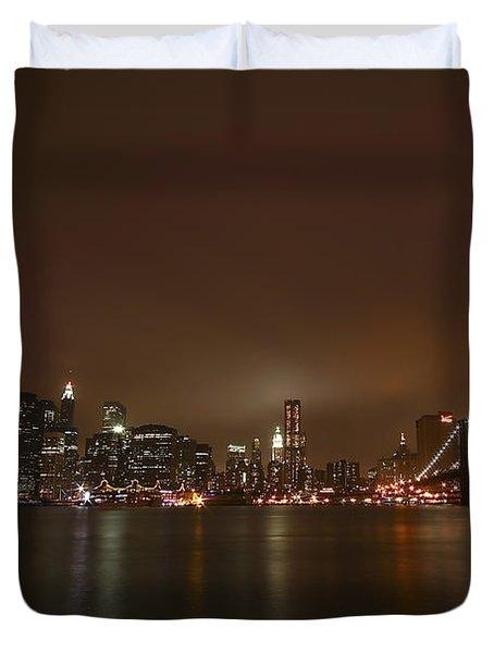Big Apple Lights Duvet Cover by Evelina Kremsdorf