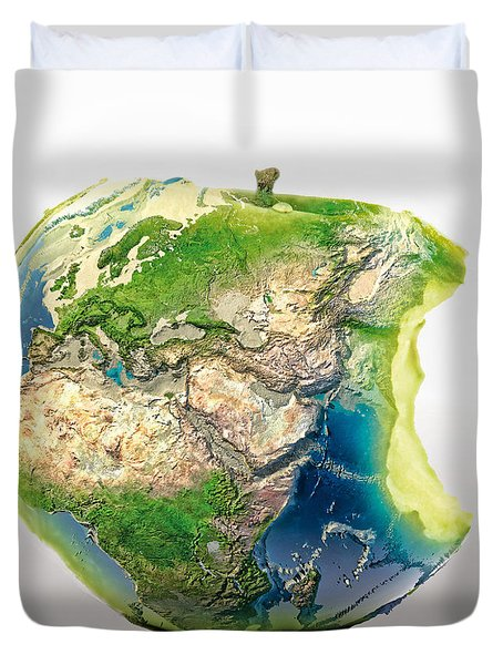 Big Apple Duvet Cover by Mo T