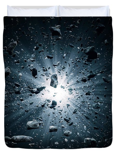 Big Bang Explosion In Space Duvet Cover