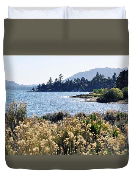 Big Bear Lake Shoreline Duvet Cover