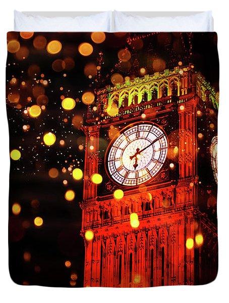 Big Ben Aglow Duvet Cover