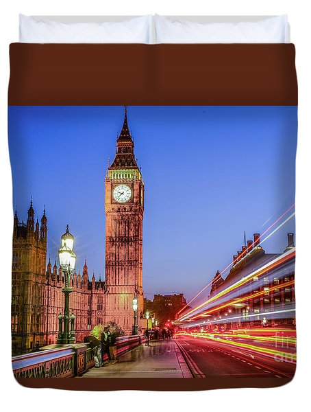 Big Ben By Night Duvet Cover