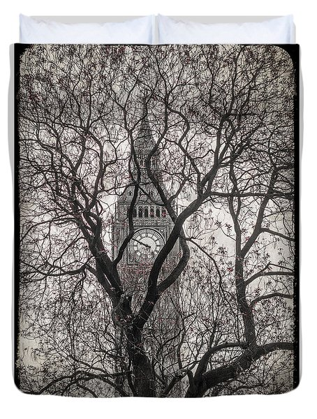 Big Ben From The Square Duvet Cover