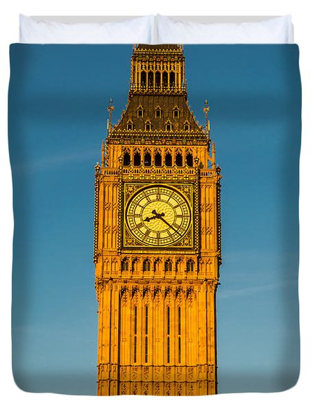 Big Ben Tower Golden Hour London Duvet Cover
