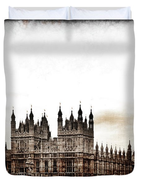Big Bend And The Palace Of Westminster Duvet Cover
