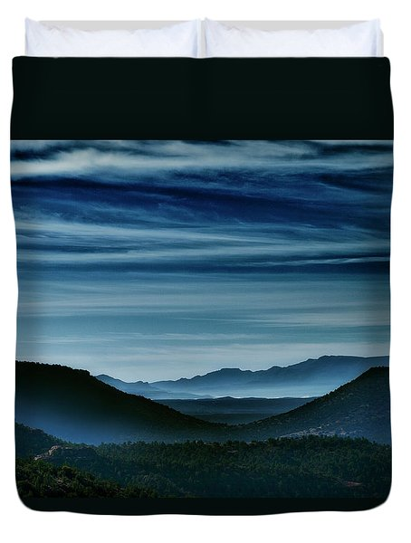 Big Bend At Dusk Duvet Cover