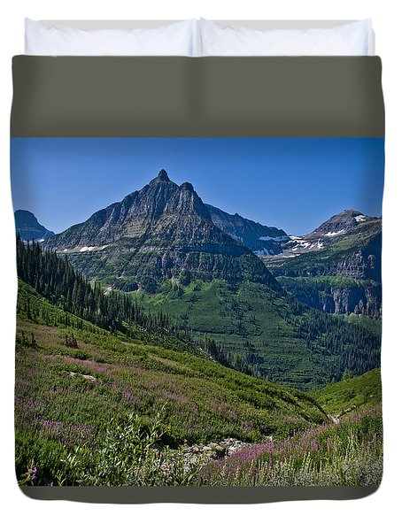 Big Bend, Glacier National Park Duvet Cover