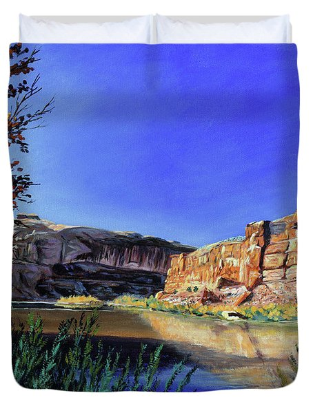 Big Bend On The Colorado Duvet Cover
