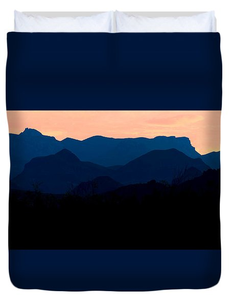 Big Bend Orange Blue Layers Duvet Cover