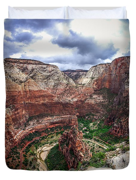 Big Bend Zion National Park Duvet Cover