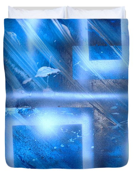 Big Blue II Duvet Cover