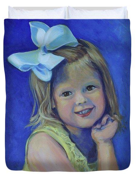 Big Bow Little Girl Duvet Cover