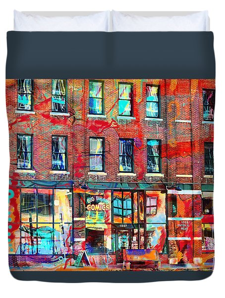 Big Brain City Wall Duvet Cover by Susan Stone