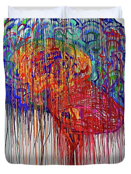 Brain Urbane Duvet Cover