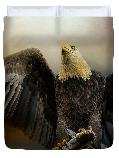 Big Catch Duvet Cover by Jai Johnson