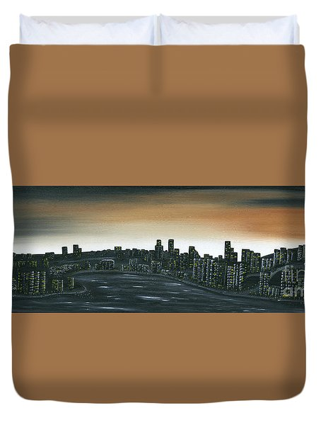Big City Lights Duvet Cover