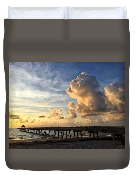 Big Cloud And The Pier, Duvet Cover
