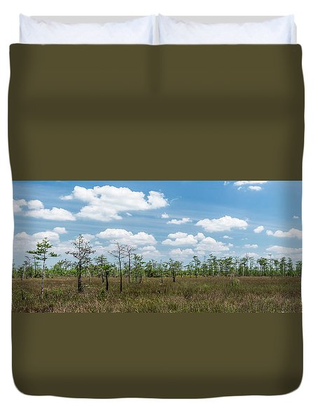 Duvet Cover featuring the photograph Big Cypress Marshes by Jon Glaser