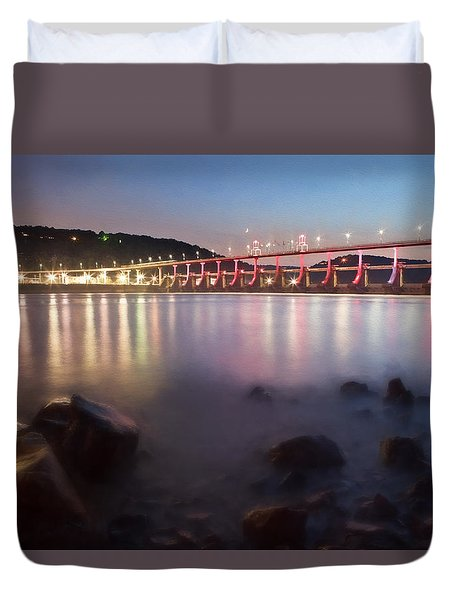 Big Dam Bridge Duvet Cover
