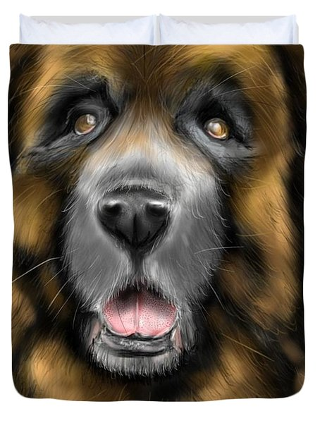 Big Dog Duvet Cover by Darren Cannell