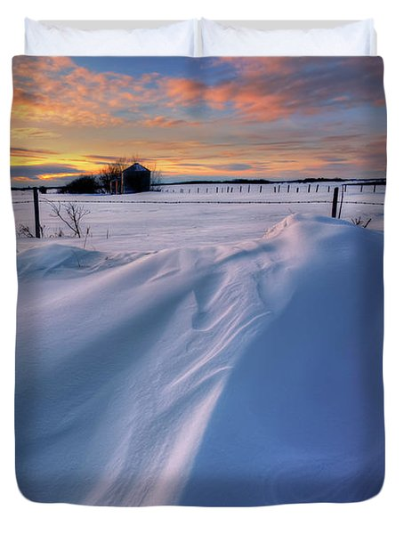 Big Drifts Duvet Cover