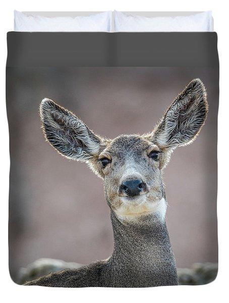 Big Eared Mule Deer Duvet Cover