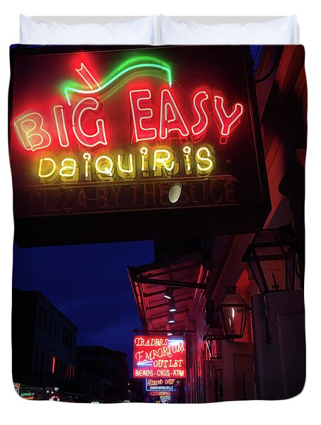 Big Easy Sign Duvet Cover