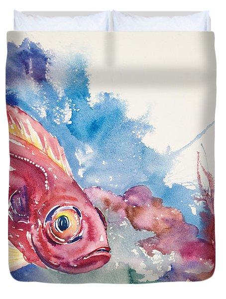 Big Eye Squirrelfish Duvet Cover by Tanya L Haynes - Printscapes