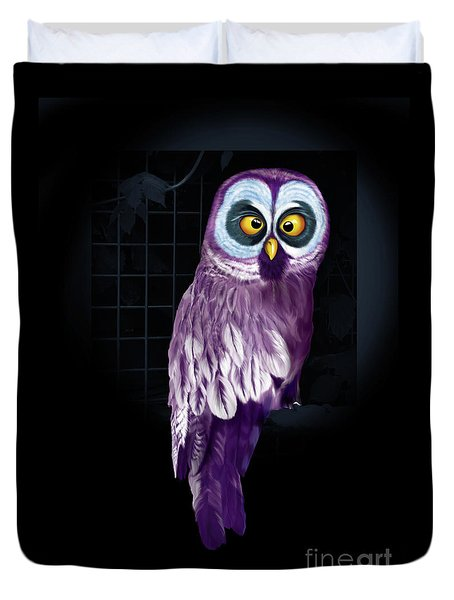 Big Eyed Owl Duvet Cover