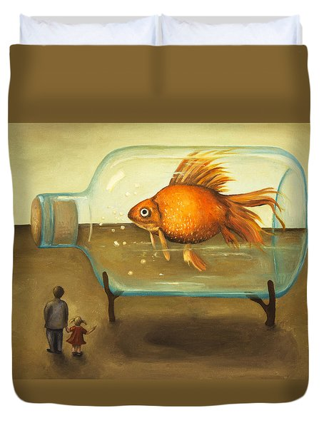 Big Fish Duvet Cover by Leah Saulnier The Painting Maniac