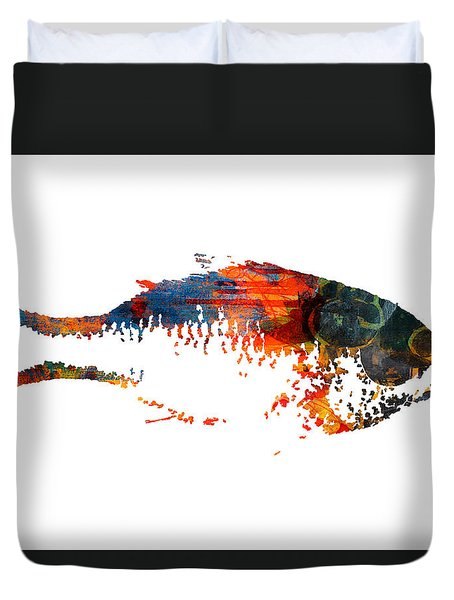Big Fish Duvet Cover by Nancy Merkle