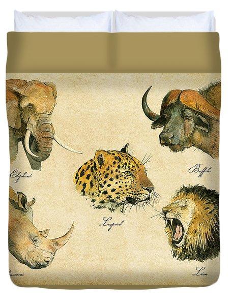 Big Five Poster Duvet Cover