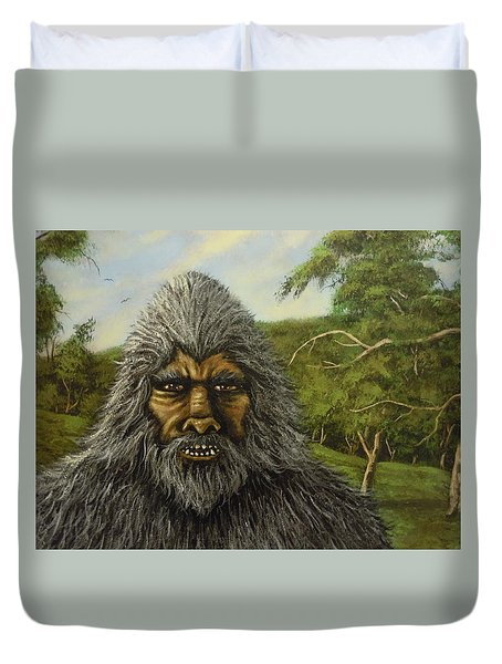 Duvet Cover featuring the painting Big Foot In Pennsylvania by James Guentner
