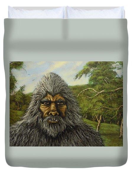 Big Foot In Pennsylvania Duvet Cover by James Guentner