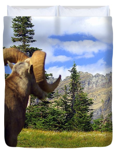 Big Horn 3 Duvet Cover by Marty Koch