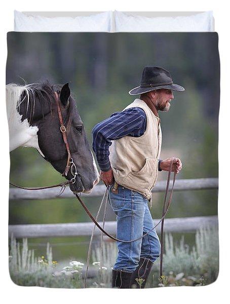 Big Horn Cowboy Duvet Cover