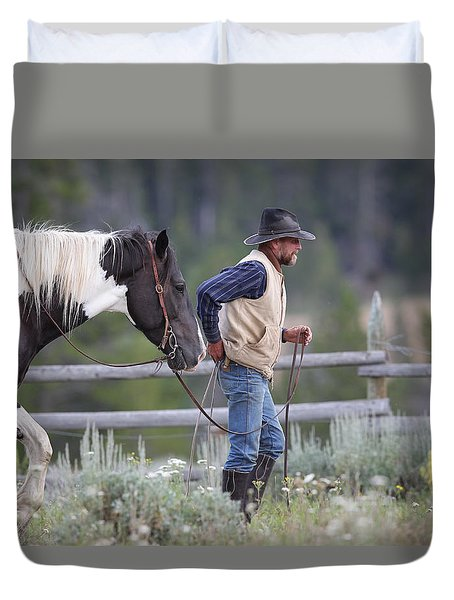 Big Horn Cowboy Duvet Cover