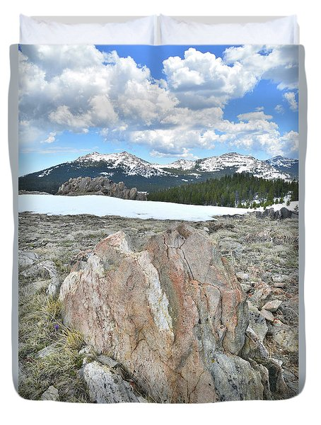 Big Horn Pass In Wyoming Duvet Cover