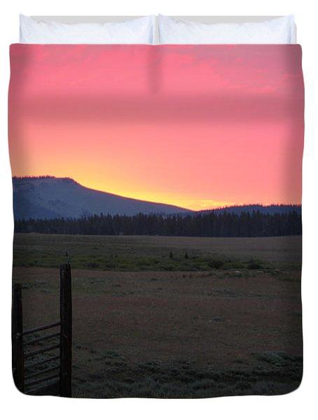 Big Horn Sunrise Duvet Cover